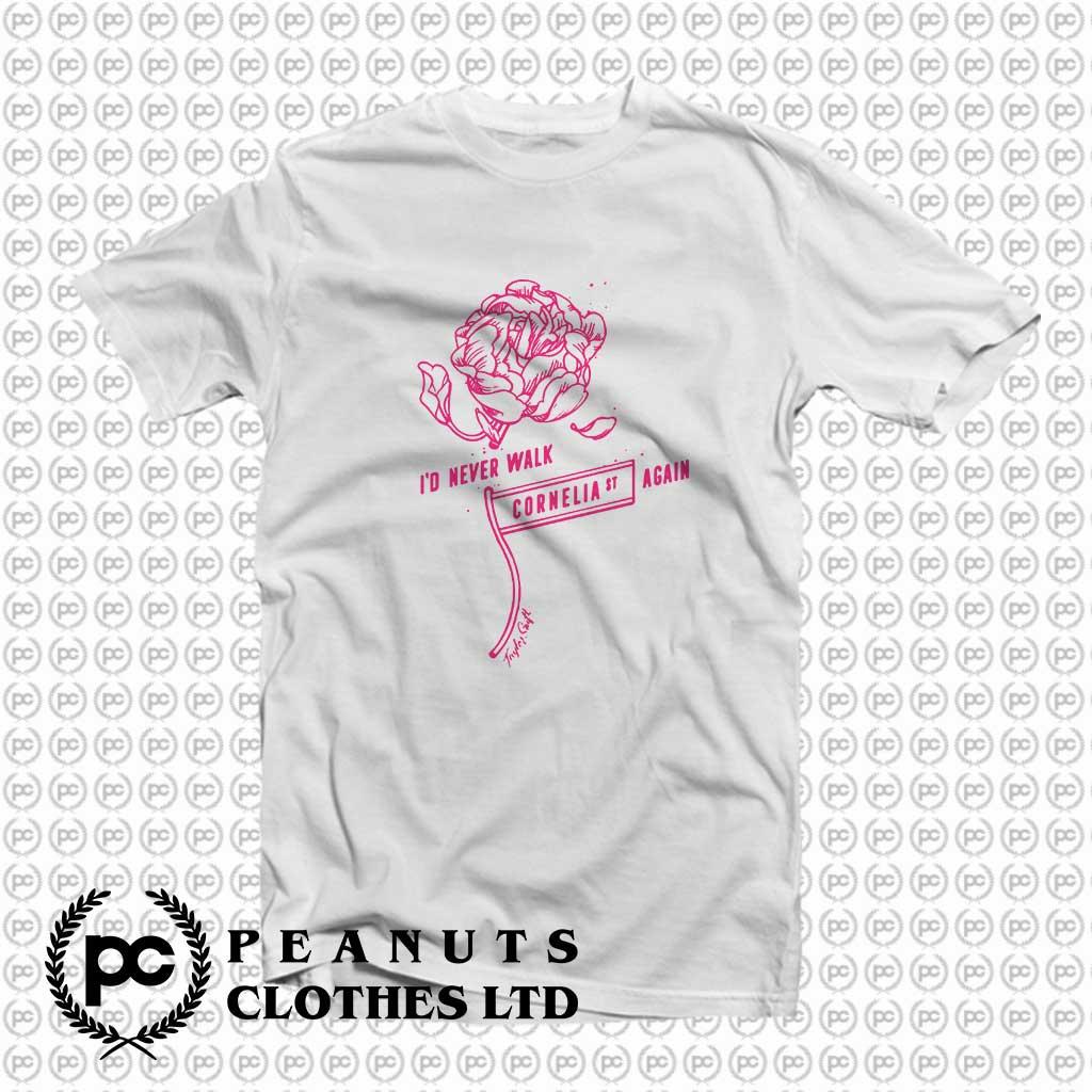 Taylor Swift Cornelia Street Lyrics T Shirt Peanutsclothes Com