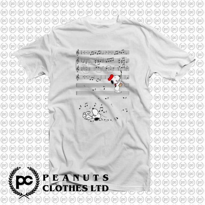 Snoopy Painter Painting The Music Sheet T-Shirt