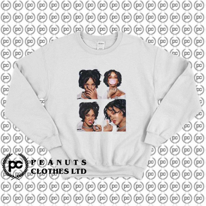Rihanna Bubble Gum Sexy Casual Sweatshirt